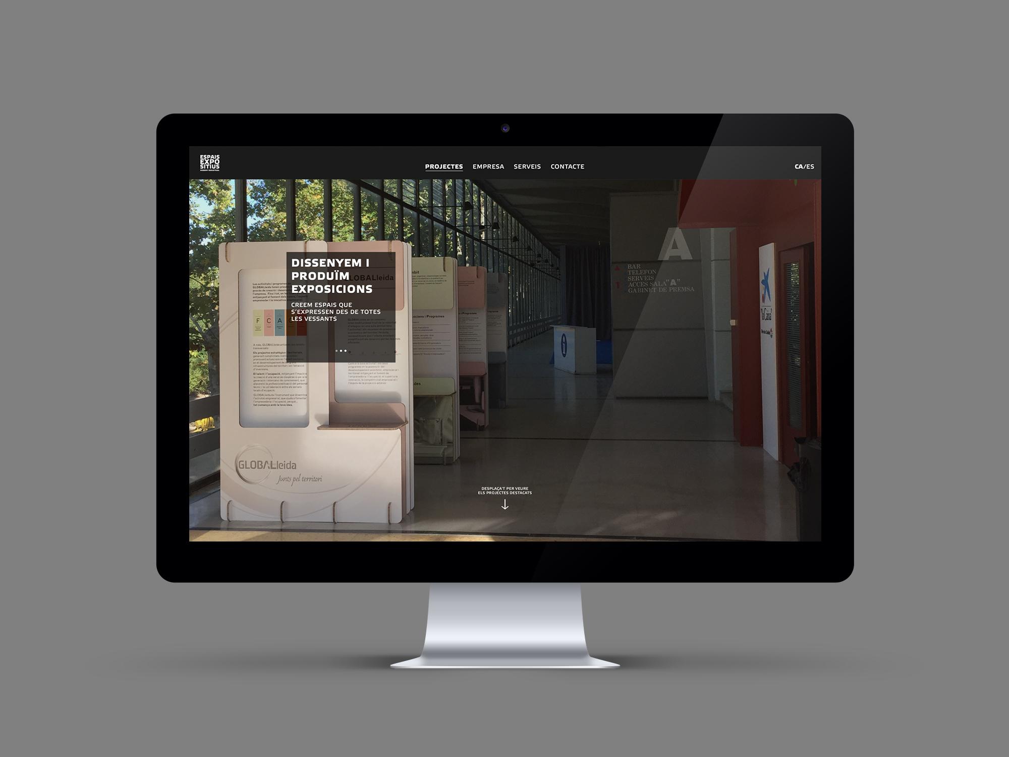 Disseny web responsive Espais expositius Latipo